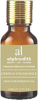 Premium Aromatherapy German Chamomile Essential Oil 100% Organic Pure Undiluted Therapeutic Grade Scented Oils - 10ml for ...