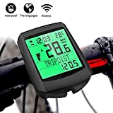 AOZBZ Bike Computer, Wireless Waterproof Bicycle Speedometer, Multi-Functions Cycling Odometer with LCD Backlight, Automatic Wake-up
