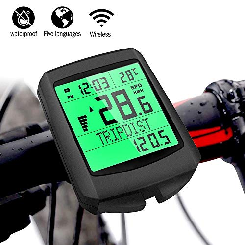 OURLITIME Multifunction Bike LCD Display Digital, Speedometer Bikes for Bicycle Multifunction Bike Computer Luminous Odometer Wireless Speed Meter Cycling Speedometer