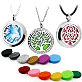 3PCS Aromatherapy Essential Oil Diffuser Locket Pandent Necklaces Mixed Style Tree of...