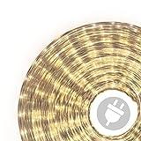 20m Microlichter Lichterschlauch Lichtschlauch warm-weiß – Innen- und Außenbereich –