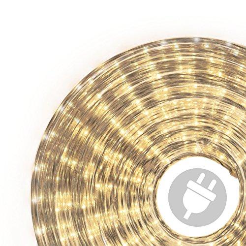 10m Microlichter Lichterschlauch Lichtschlauch warm-weiß – Innen- und Außenbereich – Licht-Dekoration für Garten Fest Weihnachten Hochzeit Gesamtlänge ca. 11,50 m