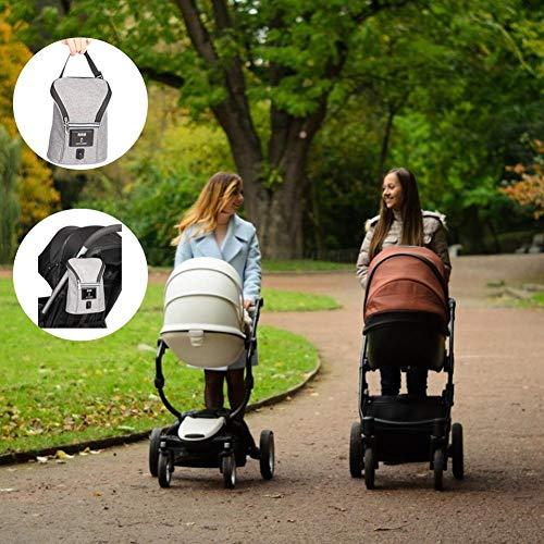 S-tubit Baby-Flaschenwärmer-Tasche, Auto-Ladegerät, doppelte Flasche, warme Milchheizung, tragbare Thermostat-Heizung, Milchflaschen-Tasche, wärmeisolierte Reisetasche Lovely