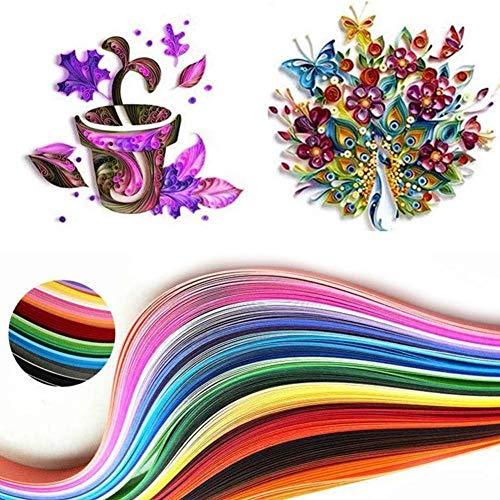 180 Strips 36 Gemengde kleuren Papier Quilling Rolling Tool Scrapbooking Strepen 3 Maten 3 mm / 5 mm / 7 mm x 540 mm Voor Papercraft DIY Craft, 3x540 mm 36 kleuren