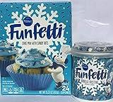 Pillsbury Funfetti Winter Cake Mix 15.25 oz & Blue Vanilla Frosting w/Snowflake Sprinkles 15.6 oz...