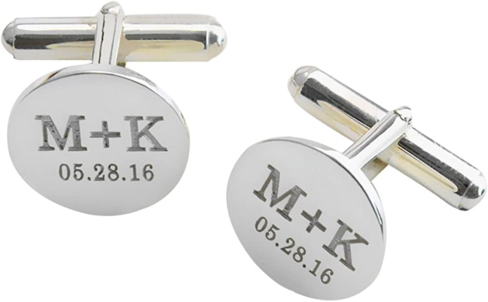 Over item handling ☆ LAOFU 925 Sterling Silver Engrave Personalized Ranking TOP5 Cufflinks Wedding
