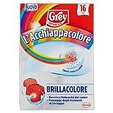 Grey L'Acchiappacolore Brillacolore, Additivi Bucato Fogli Cattura Colore e Ravviva Colori, 1 Confezione