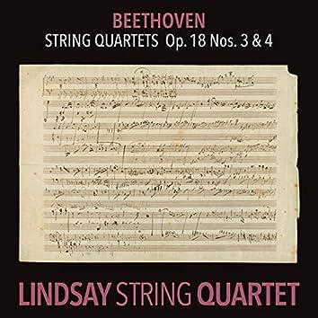 Beethoven: String Quartet in D Major, Op. 18 No. 3; String Quartet in C Minor, Op. 18 No. 4 (Lindsay String Quartet: The Complete Beethoven String Quartets Vol. 2)
