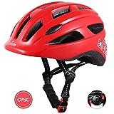 TurboSke Toddler Bike Helmet, CPSC Certified Multi-Sport Adjustable Helmet for Kids Boys and Girls Age 3-5 (Red)