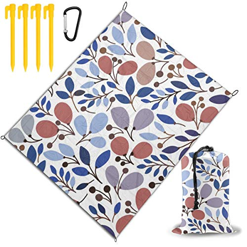 Best Deals! Outdoor Picnic Blanket 67x57inch Colourful Tulip Leaves Foldable Waterproof Extra Large ...