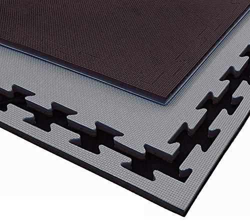 G5 HT SPORT Tatami 100 x 100 cm Grosor de 2 a 4 cm en EVA Marcos Incluidos Rojo/Azul o Negro/Gris Apto para todos los ambientes interiores multidisciplinas 1 m2 (4 cm (grosor), Negro/Gris)