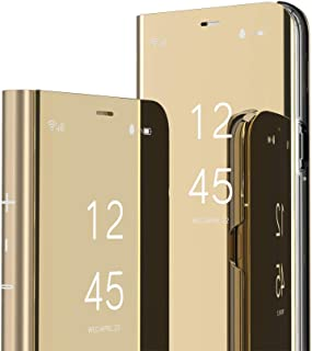 OOPKINS Case for Huawei Honor 9X Lite Luxury Bookstyle Clear View Window Electroplate Plating Stand Scratchproof Full Body...