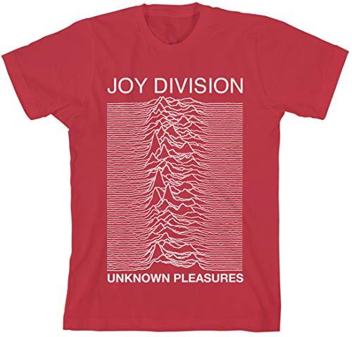 T-Shirt # L Red # Unknown Pleasures Unisex Slim Fit