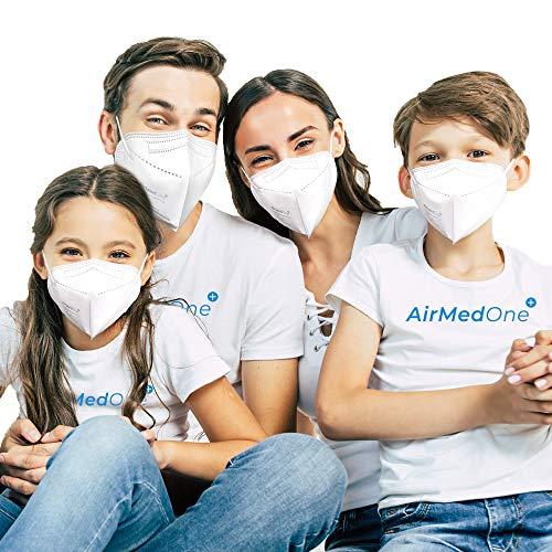 FFP2 Atemschutzmaske mit offiziellem Zertifikat CE2163, Mundschutz Maske 5-lagig [10 Stück] 3D Gesichtsmaske faltbar