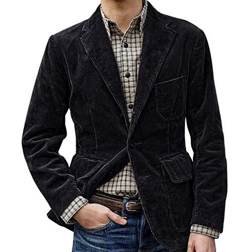 Herren Slim Fit Herrenanzug Inawayls Kordjacke Mannes Jacke Corduroy Vintage Retro Anzug Business Lässig Anzüge Jacke Hochzeit