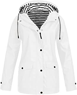 Women Rain Jacket Plus Size Waterproof Hoodie Lightweight Raincoat Outdoor Windbreaker Jackets