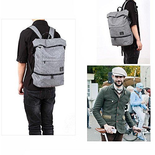 Neuleben Wasserdicht Kurierrucksack mit Diebstahlschutz Laptopfach für 15,6´´ Rucksack Daypack für Sport Schule Fahrrad (Schwarz)