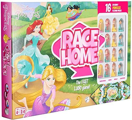 Disney Princess Race Home Brettspiel für Kinder ab 4 Jahren, Mehrfarbig