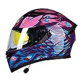 Tables Casco Integrale Moto Bluetooth Caschi Modulare Motorino Caschi Integrali Racing Casco Crash Helmet con Anti-Fog Doppia Visiera per Scooter, Motorini, Motocicli