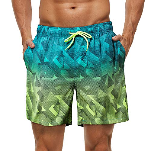 anqier Badehose Herren Jungen Badeshorts für Männer Schnelltrocknend Surfen Strandhose Schwimmhose Surf Shorts in vielen Farben mit Mesh-Futter und Verstellbarem Tunnelzug - S/M/L/XL/2XL