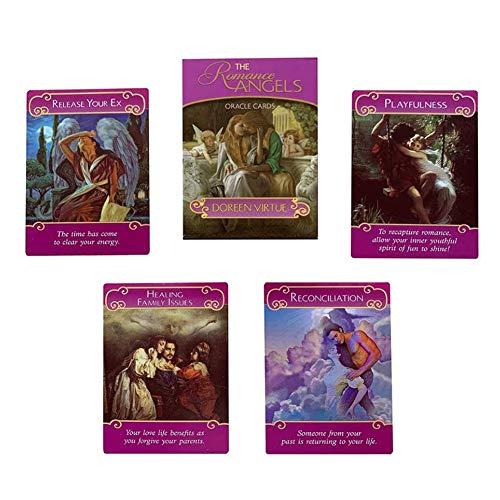 M-GLT 44 Hojas de Tarjetas de Oráculo de Ángeles Románticos, Carta de Tarot Chapada en Oro, Tarjeta RARA, Tarjetas de Oráculo, Conjuntos de Tarjetas de Futuros Juegos de Adivinación