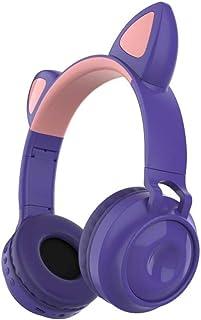 MDHANBK Auriculares inalámbricos, Luminosos Auriculares Bluetooth 5.0 con Orejas de Gato, música estéreo de Alta fidelidad...