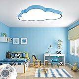 ZPRIO 48W Lámpara De Techo LED De Nubes Regulables Luz De Techo Lámpara De Luces De Sala De Estar Lámpara De Dormitorio Con Control Remoto,Regulable (3000-6500K)Con Mando Distancia (48W Concha Azul)