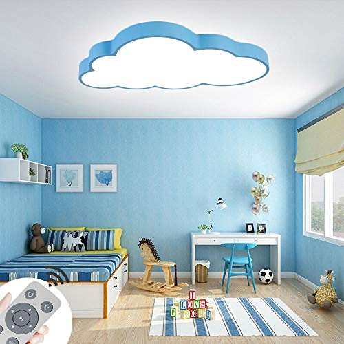 64W Lampada Da Soffitto A LED Da Lampada Da Soffitto A Nuvola Dimmerabile Lampada Da Soggiorno Lampada Da Camera Da Letto Con Telecomando (Guscio Blu-64W)