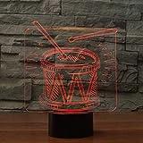 Lámpara 3D Batería Set LED 3D Luz de Noche Táctil Remoto Colorido Lámpara de Mesa USB Luz de Noche Atmósfera Lámpara para Niño Regalo Decorativo