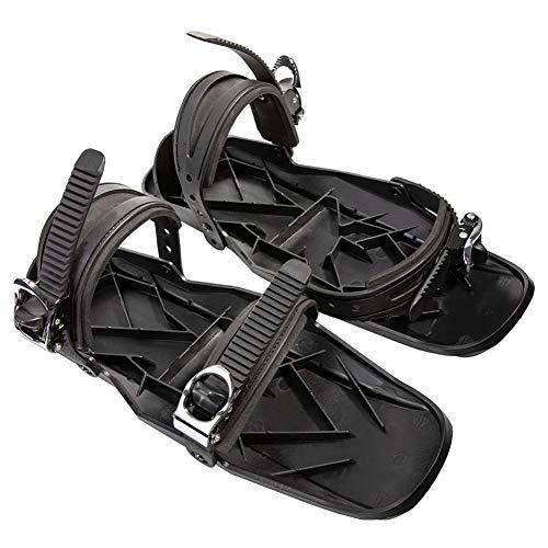 SOAR Raquetas Nieve Patines de esquí de Invierno Unisex Mini Zapatos de Nieve portátiles Ajustables Ajustables Snow The Short Outdoor Travel Skiboard Shoes