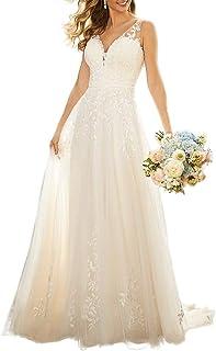 Sponsored Ad - WaterDress Beach Wedding Dresses for Bride 2021 Lace Boho Bridal Wedding Gowns WDW002