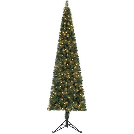 Pink Home Heritage 7 Foot Prelit Artificial Pencil Christmas Tree w// Stand