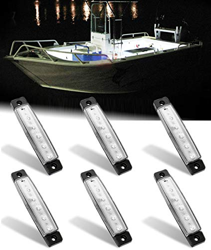 Shangyuan Interior Marine Strip Lights, 6 Led Utility Strips, Marine Led Strip, White Led Courtesy Light, 12v Led Marine Light, Marine Interior Lights, Boat Interior Led Lights, Marine Led Lights 6PCS