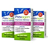 Prevagen Improves Memory - Extra Strength 20mg, 30 Chewables |Mixed Berry-3 Pack| with Apoaequorin & Vitamin D | Brain Supplement for Better Brain Health, Supports Healthy Brain Function