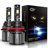Cougar Motor 9007 LED Bulbs, All-in-One Conversion Kit, 6000K Cool White - Adjustable Beam Pattern, Quick Installation Low Fog Light