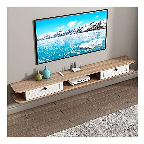 PPOIU Mueble para TV Flotante Consola de TV de Madera para Sala de Estar, Mueble de Pared con Soporte para TV, Simple y Moderno/B / 150 × 24 × 18.2cm