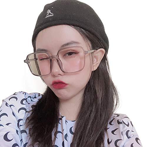JIMMY ORANGEブルーライトカット 伊達 パソコン用 メガネ TR 軽量 UVカット おしゃれ レディース メンズ 眼鏡 フレーム 大きいサイズ 小顔 L8559 グレー