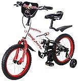 Actionbikes Kinderfahrrad Dagoberto - 16 Zoll - V-Break Bremse vorne - Stützräder - Luftbereifung - Ab 4-7 Jahren - Jungen & Mädchen - Kinder Fahrrad - Laufrad - BMX - Kinderrad (16`Zoll)