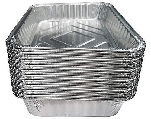 INTVN Bandeja de goteo para barbacoa - Desechables Bandeja de aluminio - Ideal para hornear, asar y cocinar - Tamaño estándar 7.3 pulgadas x 5.3 pulgadas (Paquete de 20)