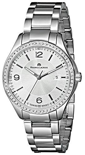 Maurice Lacroix MI1014-SD502-130 Miros Reloj de Pulsera de Acero Inoxidable con Diamantes