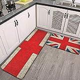 2 Pcs Kitchen Rug Set, Old and Worn...