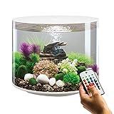 BiOrb, acquario cilindrico bianco da 35 L con illuminazione LED multicolore a controllo remoto