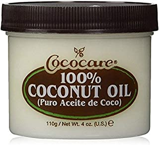Cococare 100% Coconut Oil 4 Ounce Jar (118ml) (3 Pack)