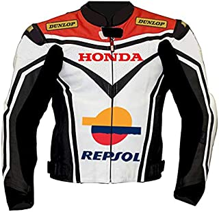 Honda Mens Motorbike Leather Suit – Motorcycle Racing CE Protection Armour Biker Suit– Custom Made