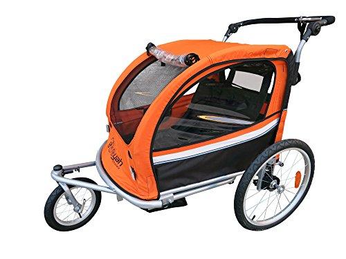 bike baby trailers Booyah Strollers Child Baby Bike Bicycle Trailer and Stroller II (Orange)