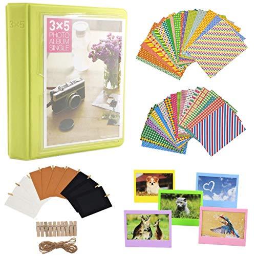 JXE - Juego de accesorios para películas de 5 pulgadas, para álbum de fotos, fotos, decoración de fotos, de plástico, colorido marco de fotos compatible con Fujifilm Instax Wide 300 Instant Films-YG