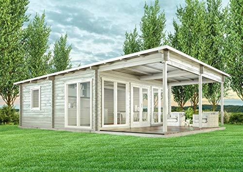 CARLSSON Alpholz Gartenhaus modern Pultdach...