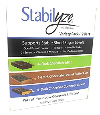Stabilyze Low GI Nutrition Bar Variety Pack