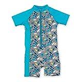 Sterntaler Kinder Jungen Schwimmanzug mit Windeleinsatz, UV-Schutz 50+, Alter: 2-3 Jahre, Größe: 86/92, Grau/Türkis