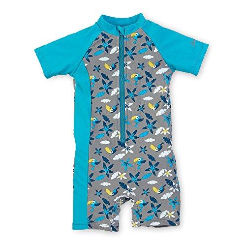 Sterntaler Kinder Jungen Schwimmanzug, UV-Schutz 50+, Alter: 4-6 Jahre, Größe: 110/116, Grau/Türkis